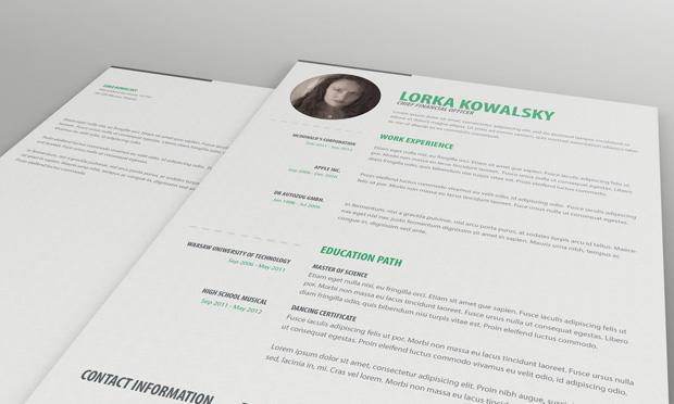 Free Simple Resume CV Template