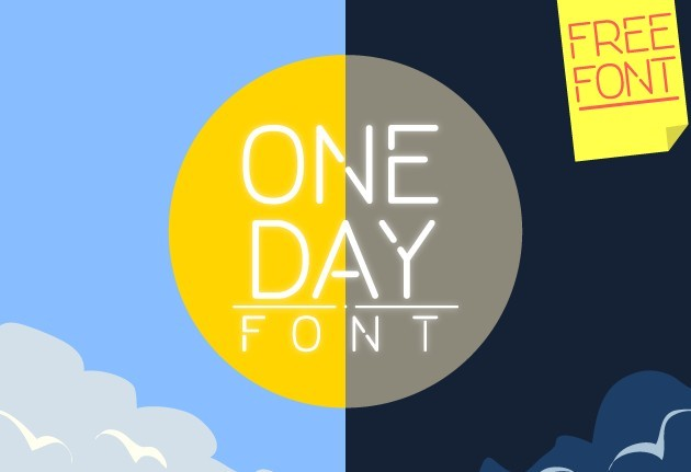 ONE DAY - Free Font