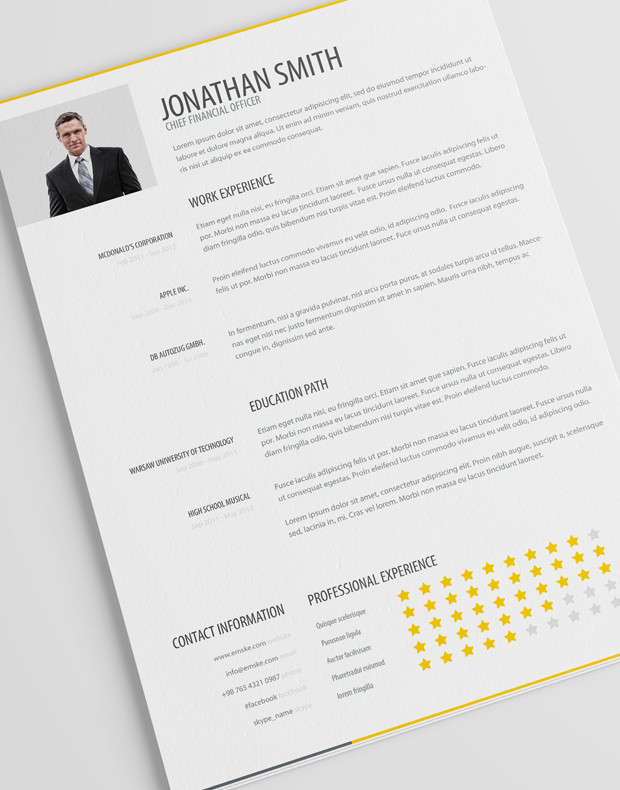 new fashion resume   cv templates for free download   web    simple resume template vol