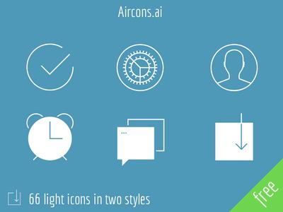 Aircons – 66 light icons