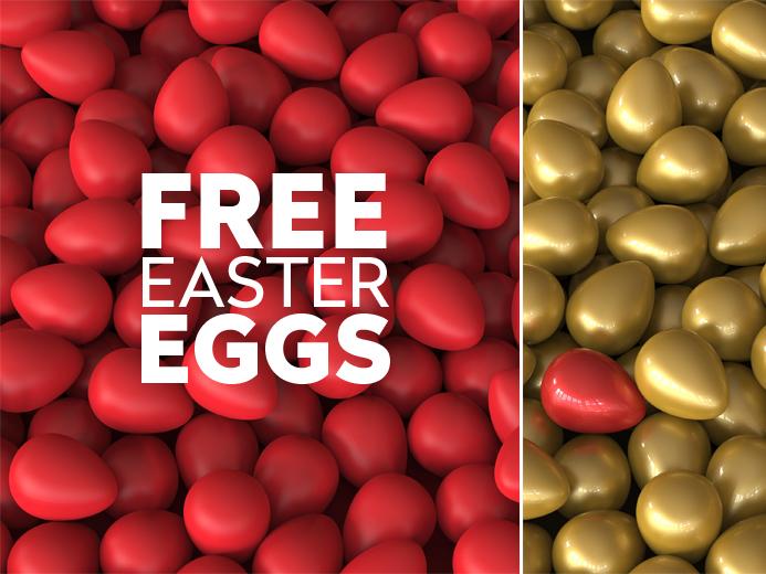 Free Easter Eggs 3D