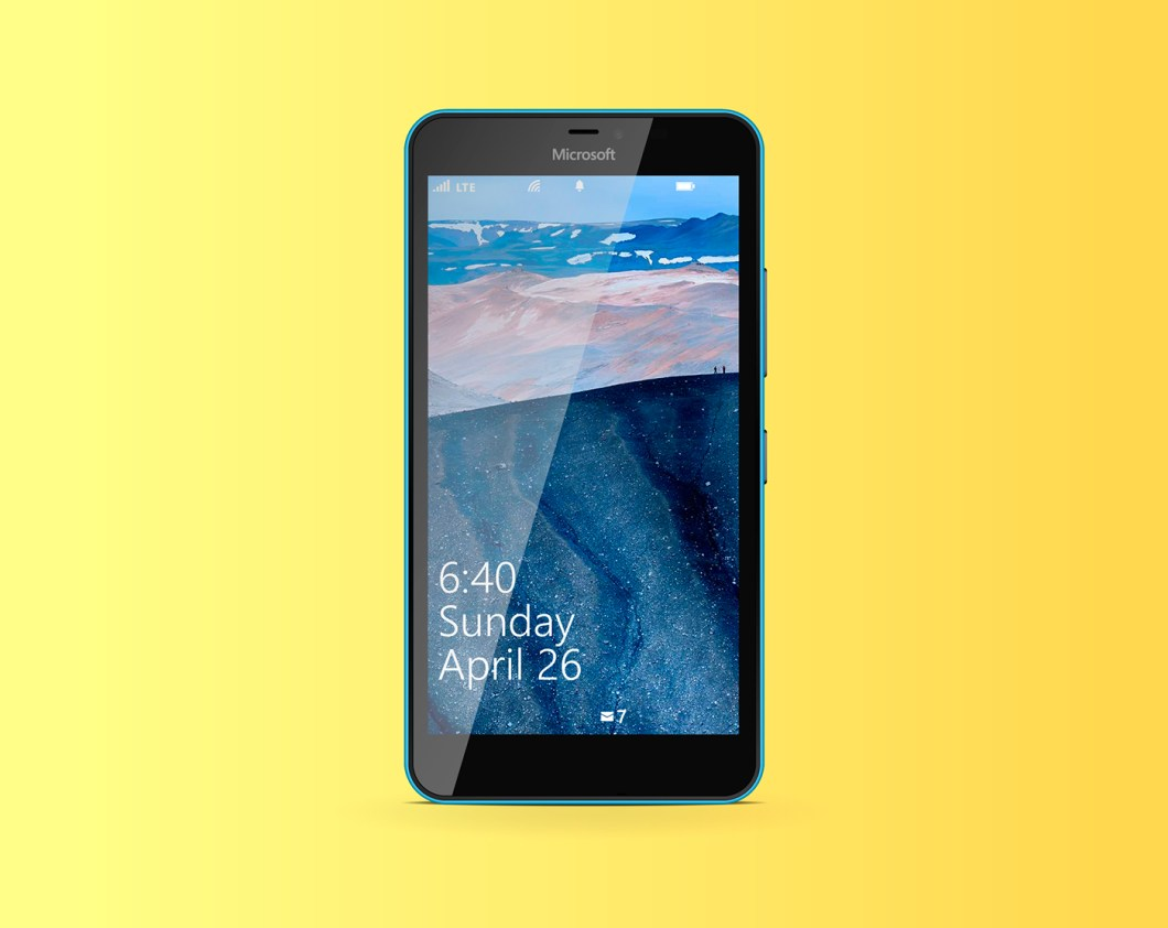 Lumia 640 XL free vector template