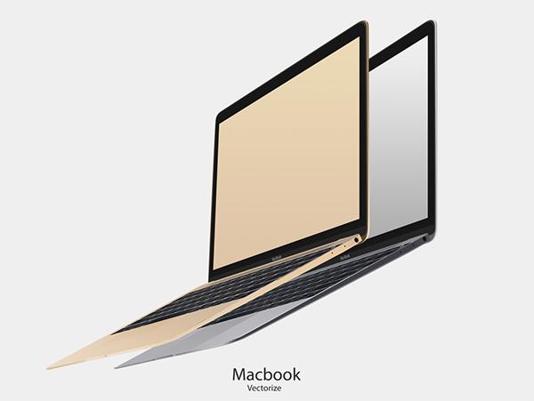 MacBook Vectorize (PSD)
