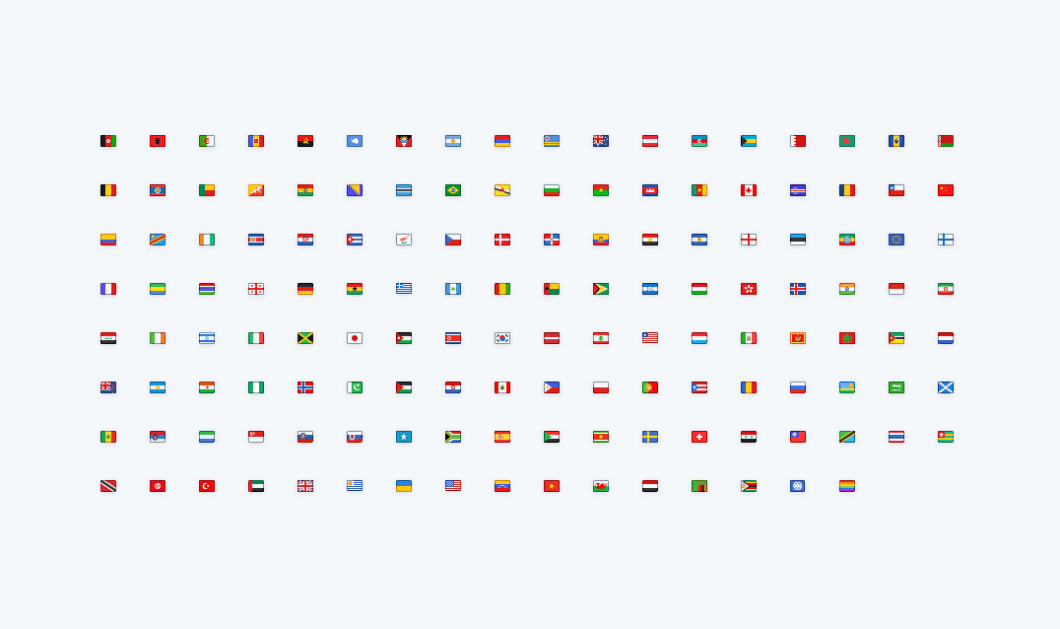 Set Of 142 Mini Country Flags