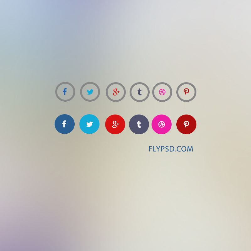 Simple Social icons in Circle