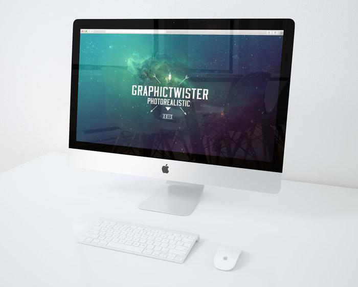 iMac Mockup On Desk