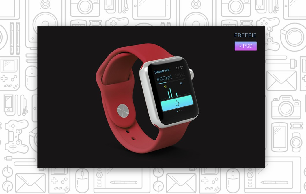 APPLE WATCH APP FREEBIE PSD