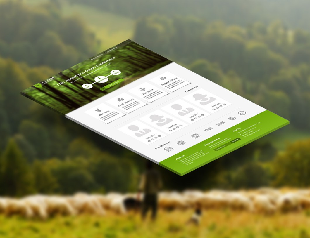 Eco Green Landing Page