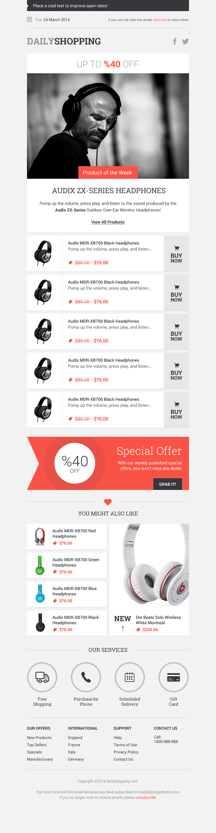 Free Shopping Newsletter Design PSD File