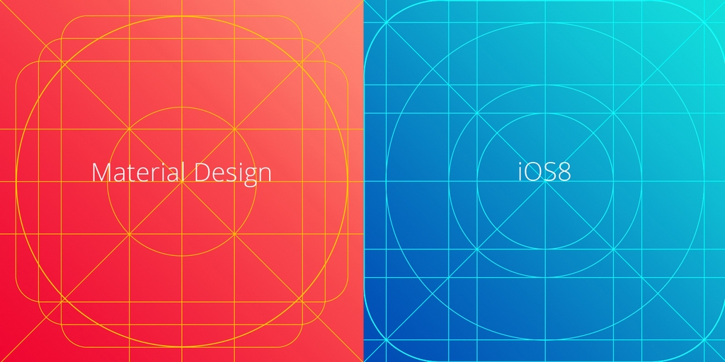 MATERIAL DESIGN AND IOS8 ICON GRID