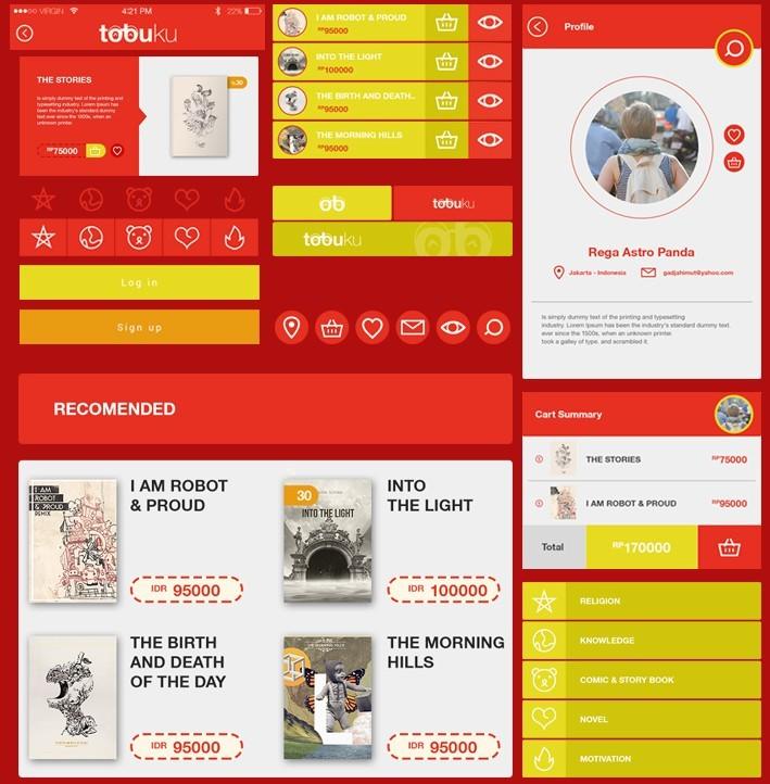 Tobuku Mobile UI Kit