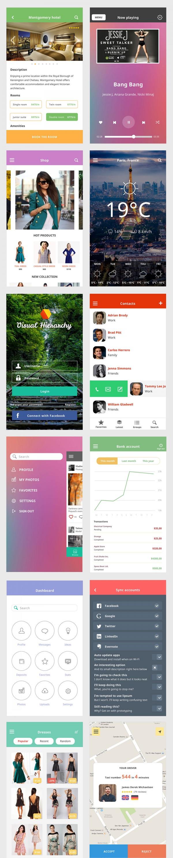 iOS 8 Mobile UI Kit Freebies