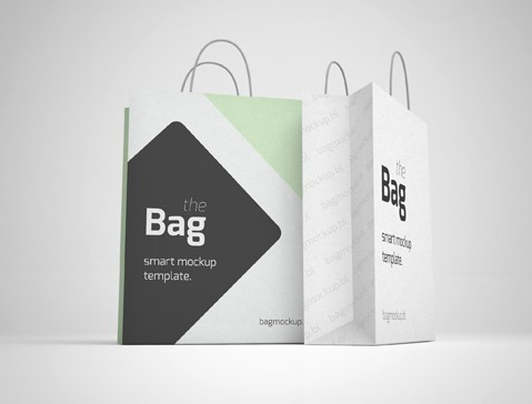 5 Shopping Bag Mockups