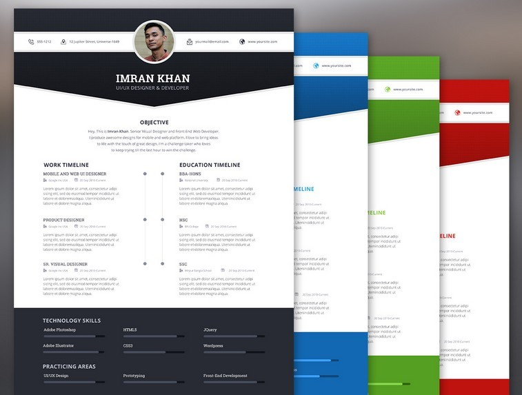130+ New Fashion Resume / CV Templates For Free Download ...