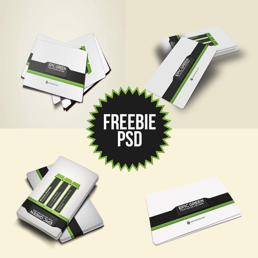 Freebie Corporate Business Card PSD Template