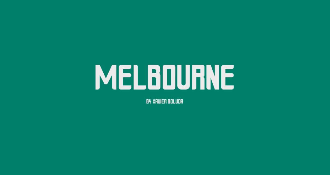 Melbourne - Free OpenType Font