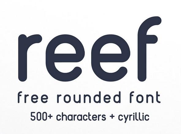 REEF - Free Round Font