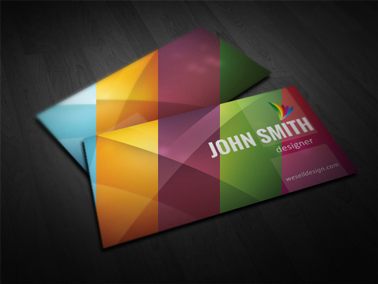 Abstract Free Business Card Template