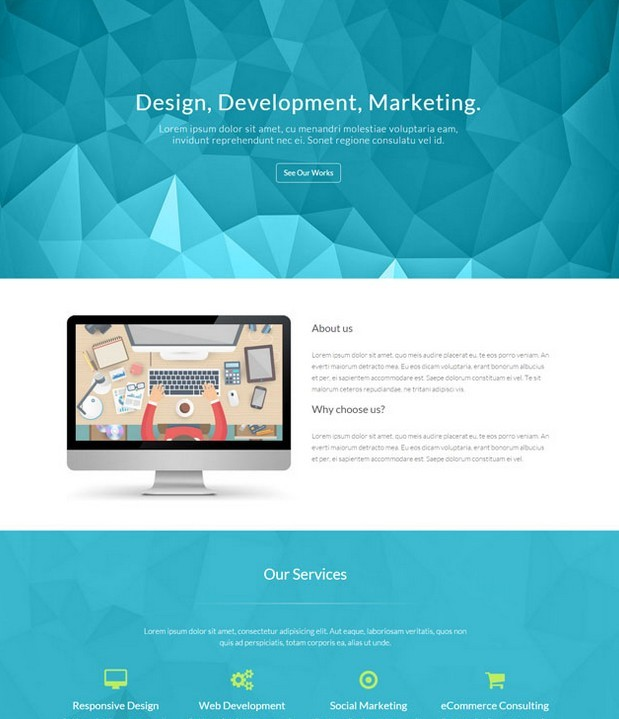 Ascend – Free One Page Bootstrap Template