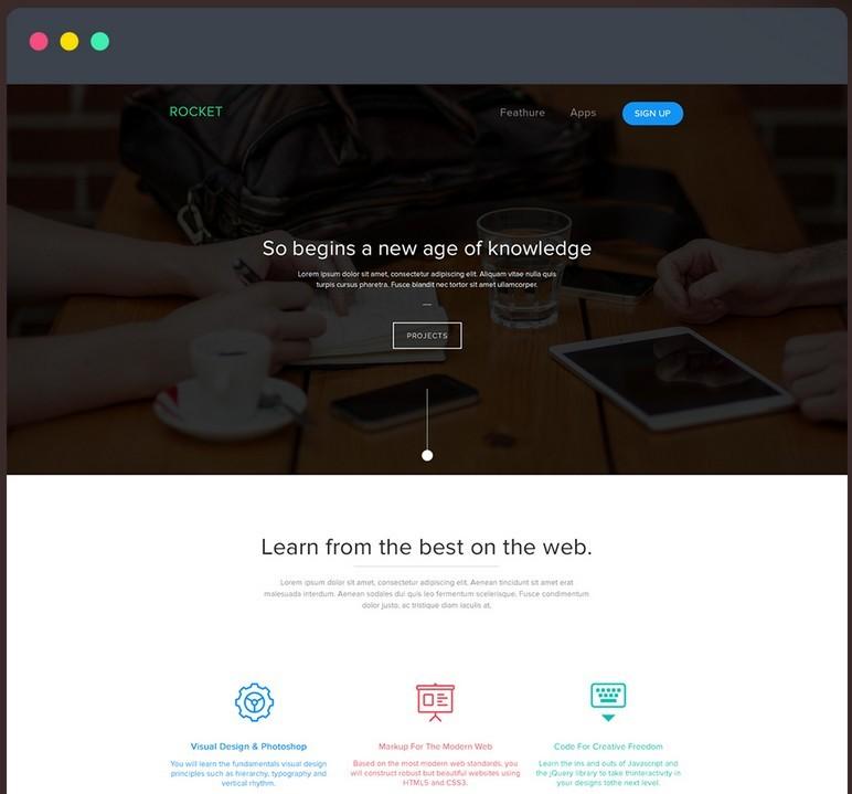 Corporate Landing Page Freebie