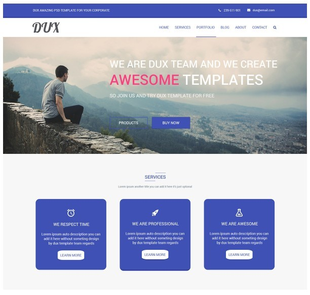 PSD Corporate Landing Template