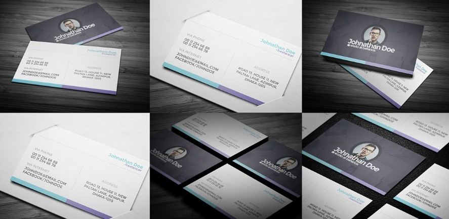 Personal Business Card Mockups PSD