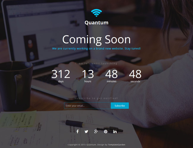 Quantum – Free Coming Soon Bootstrap Template