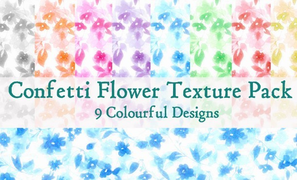 Confetti Flower Pattern Pack