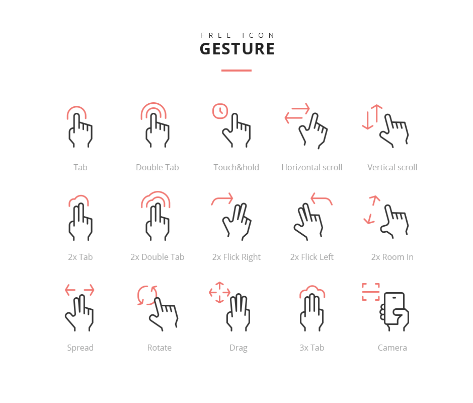 Gesture Icon Freebie