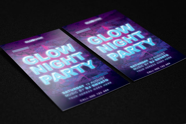 Glow Night Party FREE PSD Template