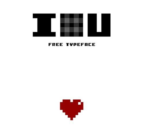 I PIXEL U - Free Typeface