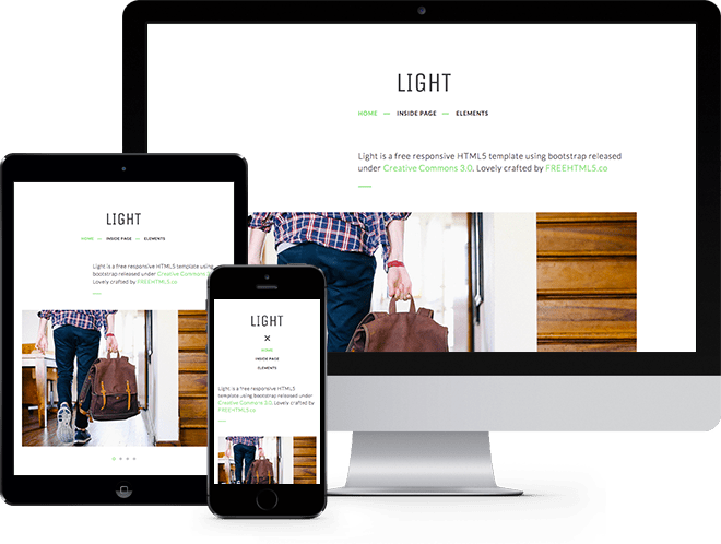 Light - Clean free HTML5 template