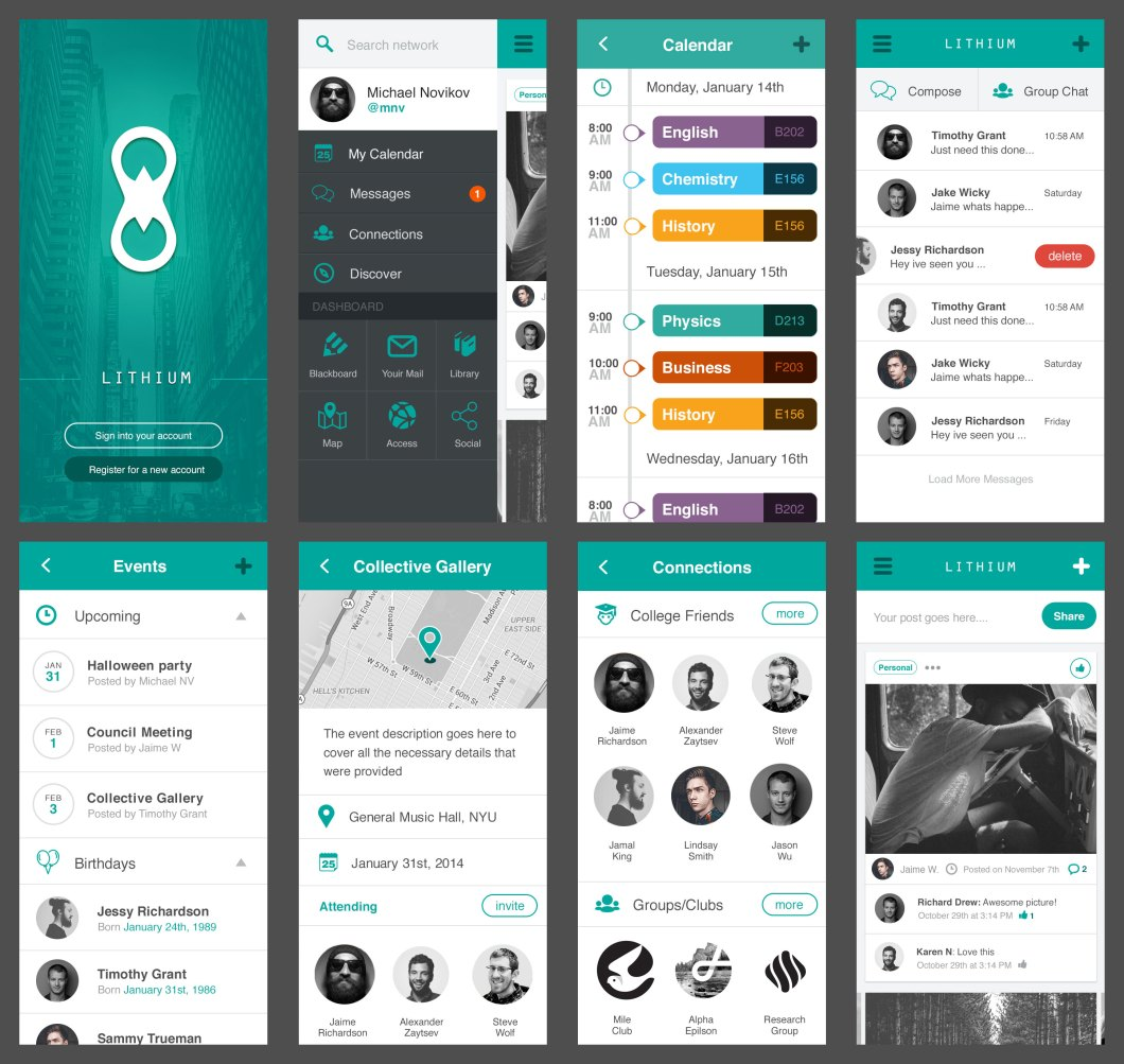 Lithium Free Mobile UI Kit