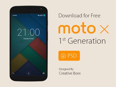 Moto X Free PSD