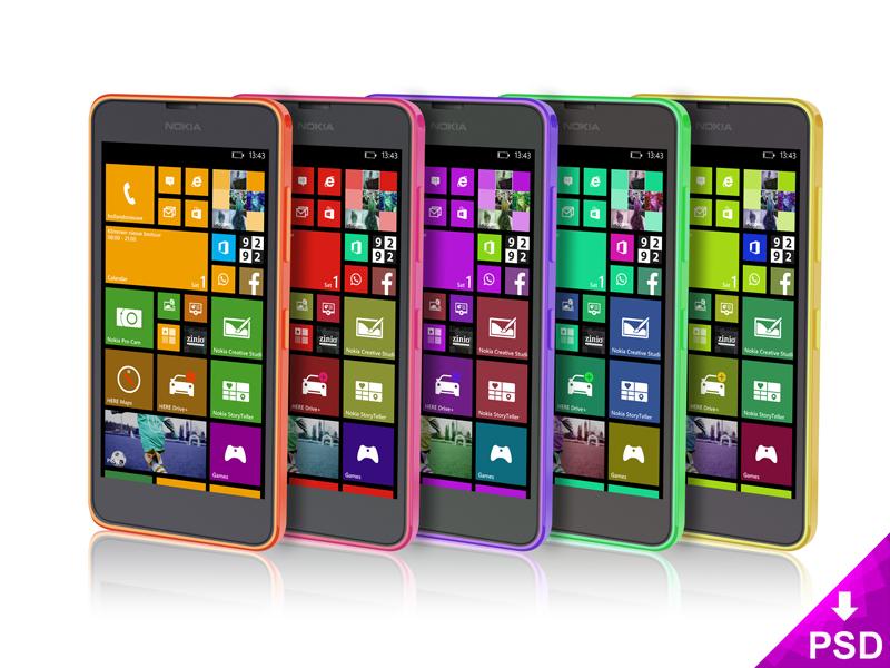 Nokia Lumia Mockup Design