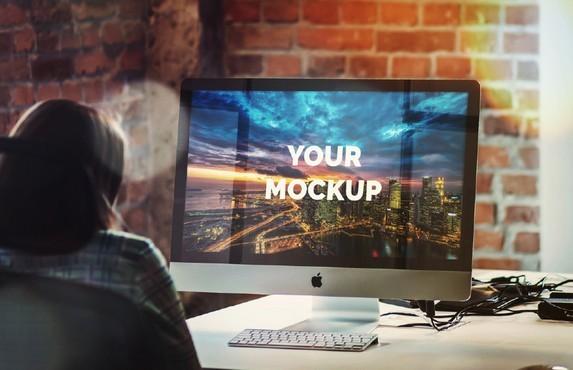 iMac Office Mockup