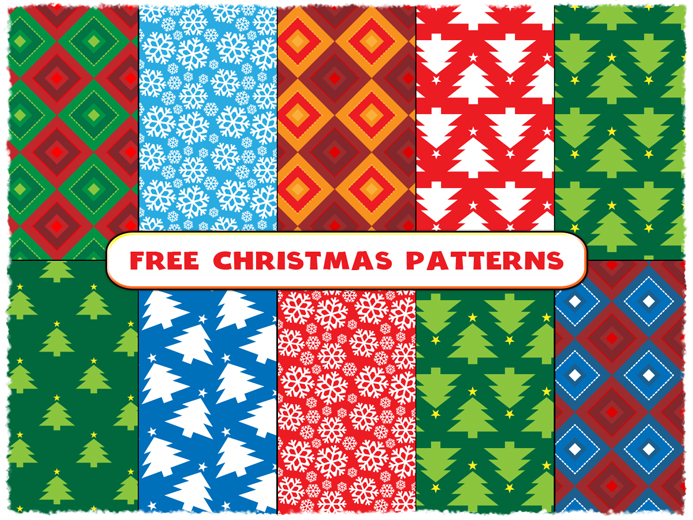 Free Christmas Seamless Patterns