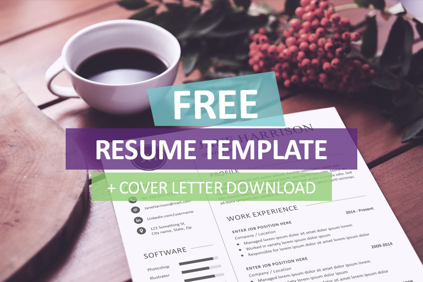 free resume template and cover letter resume