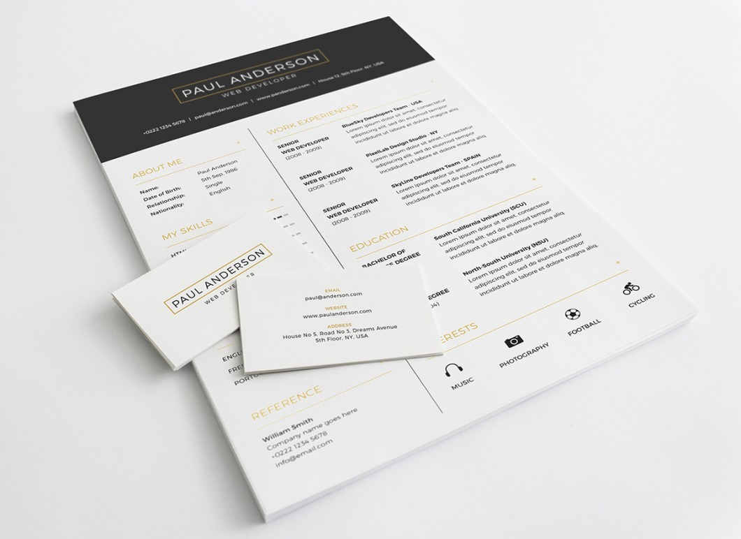 130 new fashion resume cv templates for 365 web resume template