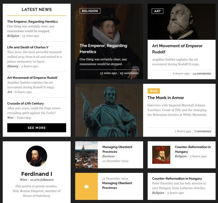 Habsburg Clean UI Kit PSD