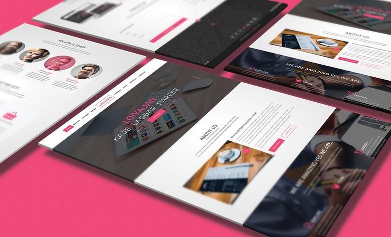 LOIYAJAN One Page Website Template PSD