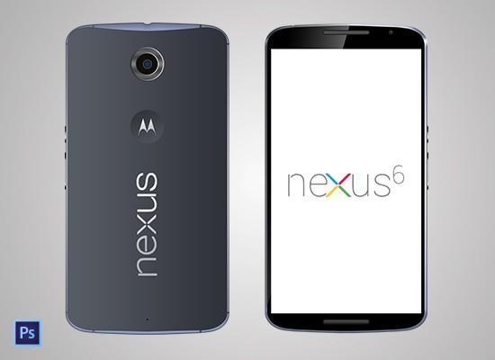 Motorola Nexus 6 MockUp (PSD)