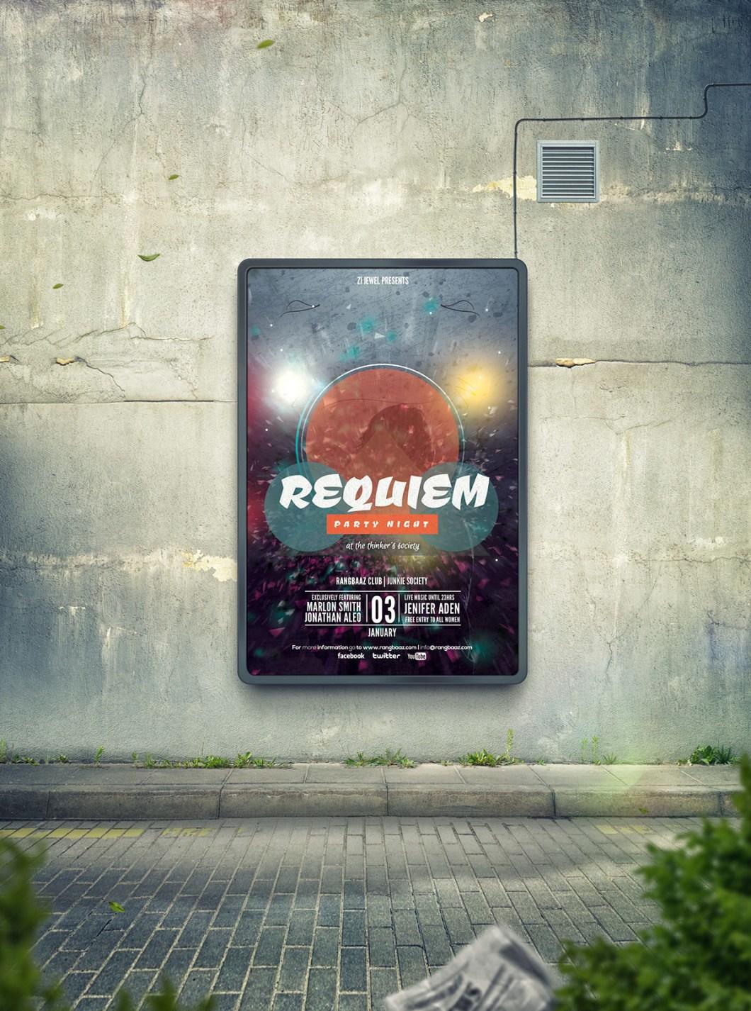 REQUIEM Party Flyer