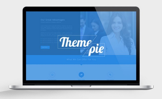 Themepie Free One Page PSD Web Template