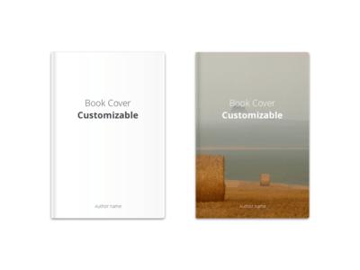 Book Cover Customizable