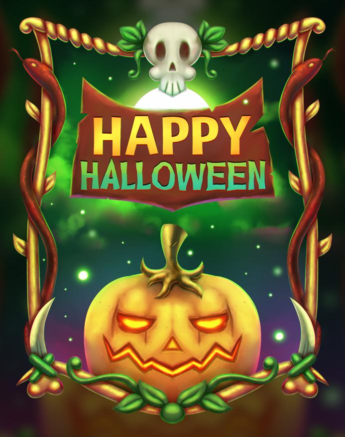 Free Halloween Illustration + Speedart