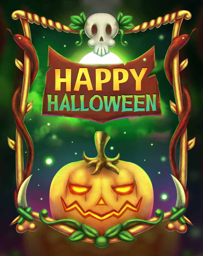 Free Halloween Illustration + Speedart