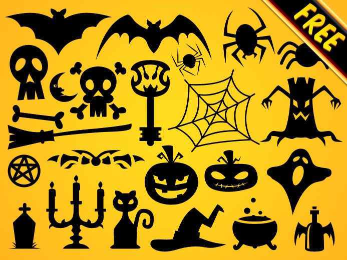 Free Halloween Vector Shapes Set