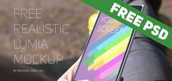 Free Realistic Windows Lumia Mockup