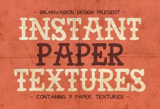 Instant Paper Textures